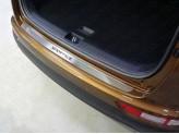 Накладка на задний бампер (лист шлифованный надпись Sportage), полир. нерж. сталь
