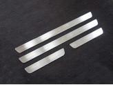 Хромированные накладки для Kia Sportage на пороги, полир. нерж. сталь