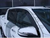 Дефлекторы боковых окон SIM для Toyota HiLux, темные (акрил), изображение 2