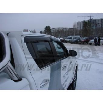 Дефлекторы боковых окон SIM для Toyota HiLux, темные (акрил)