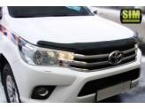Дефлектор капота SIM для Toyota HiLux, темный