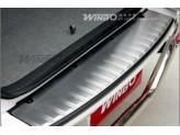 Хромированная накладка для Toyota Landcruiser 200 на задний бампер полир. нерж. сталь