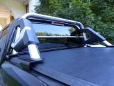 Защитная дуга в кузов пикапа, полир. нерж. сталь + пластик ABS (устанавливается со сверлением на болты), изображение 3