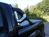Защитная дуга в кузов пикапа, полир. нерж. сталь + пластик ABS (устанавливается со сверлением на болты), изображение 4