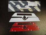 Хромированные накладки для Hummer H3 на крепление багажника, полир. нерж. сталь, изображение 2