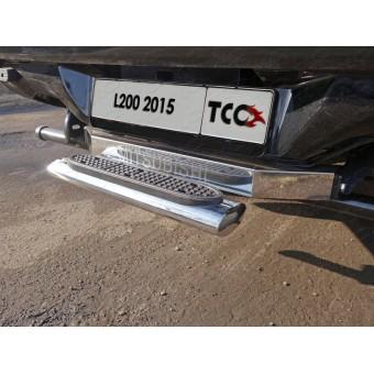 Задняя подножка овальная 120 х 60 мм (под фаркоп производства TCC ), полир. нерж. сталь