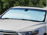 Солнцезащитный экран на лобовое стекло Toyota Landcruiser Prado 150, цвет серебристый/черный