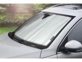 Солнцезащитный экран на лобовое стекло Toyota Landcruiser Prado 150, цвет серебристый/черный, изображение 2
