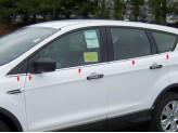 Хромированные накладки на дверные стойки Ford Kuga