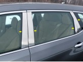 Хромированные накладки на дверные стойки Nissan X-Trail T32