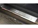Накладки на внутренние пороги из 4 ч. полир. нерж. сталь  для F25