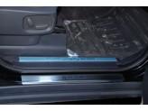 Хромированные накладки для Range Rover Sport на пороги с надписью, полир. нерж. сталь 4 ч.