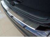 """Хромированная накладка для Kia Sorento на задний бампер с загибом матовая серия """"ORIGINAL"""", нерж. сталь"""
