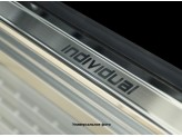 Хромированные накладки для Lada LARGUS на пороги с надписью, нерж. сталь, 4 ч.