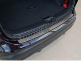 """Хромированная накладка для Nissan Qashqai на задний бампер, прямая, матовая серия """"ORIGINAL"""", нерж. сталь"""