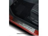Хромированные накладки для Toyota HiLux на пороги с надписью, нерж. сталь, 4 ч.