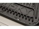 """Коврики Husky liners для Cadillac CTS  """"Heavy Duty"""" в салон резиновые, передние, цвет серый, изображение 4"""