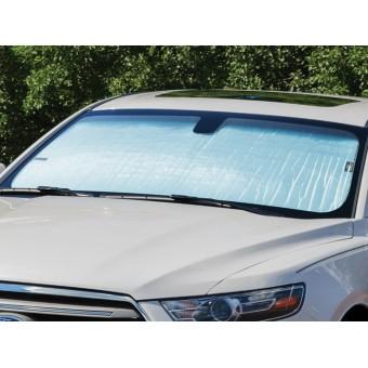 Солнцезащитный экран на лобовое стекло Nissan Pathfinder, цвет серебристый/черный