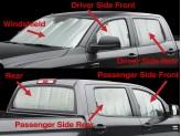 Солнцезащитный экран на лобовое стекло Toyota TUNDRA, цвет серебристый/черный, изображение 5