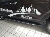 Пороги для Hyundai TUCSON, OE-style