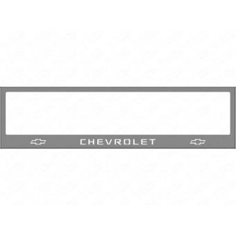 Рамка под номер для Chevrolet Camaro с логотипом (комплект)