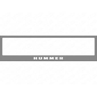 Рамка под номер для Hummer H3 с логотипом (комплект)