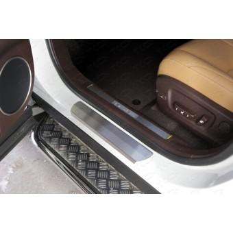 Хромированная накладка для Lexus RX на пороги (лист шлифованный)