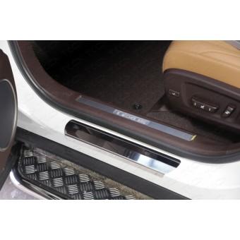 Хромированная накладка для Lexus RX на пороги (лист зеркальный)
